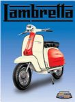"10910 - Lambretta scooter 6"" x 8"" Vintage Metal Steel Advertising Sign Plaque"